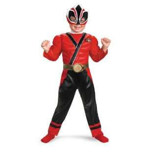 Power Rangers Samurai Red Ranger Toddler Boys Muscle