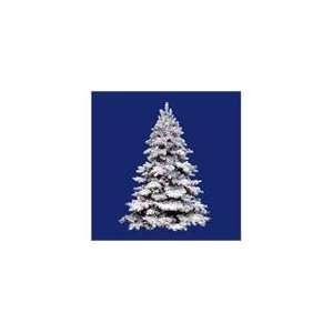 9 Pre Lit Flocked Alaskan Artificial Christmas Tree   G50