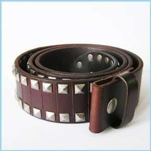 New Big Studded Punk Rock Real Leather Belt 1 002 BW