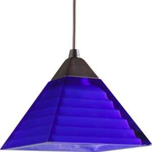174B Bi Pin Mini Pendant Pyramid with Blue Glass Home Improvement
