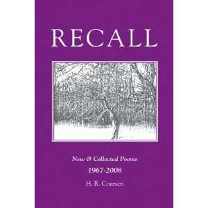 Recall New & Collected Poems 1967 2008 (9780972283960) H