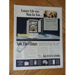 Kelvinator Refrigerators, Vintage 30s full page print ad