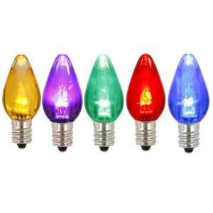 Club Pack of 25 Multi Color LED Transparent C7 Christmas Replacement