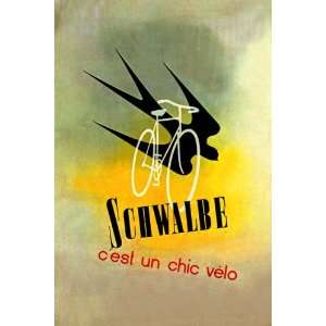 BIRD SCHWALBE BICYCLE BIKE CYCLES FRANCE FRENCH LARGE VINTAGE