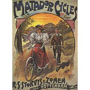 BICYCLE BIKE CYCLES 24 X 36 VINTAGE POSTER REPRO  Home