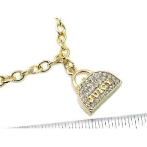 Juicy Inspired Purse Rhinestone Couture Necklace