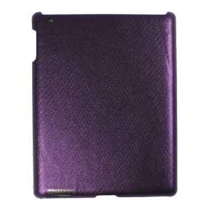 Glittery Biases Pattern Flexible Hard Case Purple for iPad