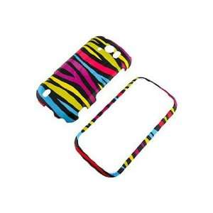 HTC T Mobile myTouch 4G Slide Graphic Case   Rainbow Zebra