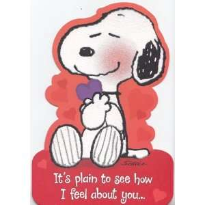 Greeting Card Valentines Day Peanuts Its Plain to See