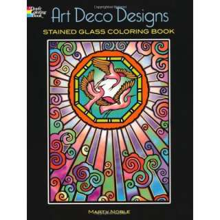 Deco Designs Stained Glass Coloring Book (Dover Design Stained Glass