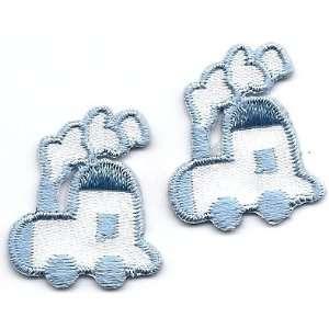 Babies Choo Choo Train Set/ Iron On Embroidered Applique