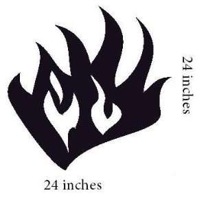 Flame Fire, Tribal Fire, Hood Graphic Graphics Decal Decals Sticker