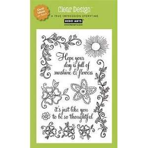 Sunshine Flowers Clear Unmounted Rubber Stamp Set (CL185