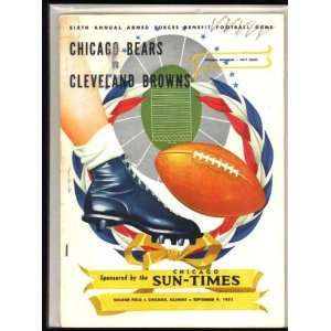 Browns vs Chicago Bears 1951 Soldiers Field Chicago Sun Times Books