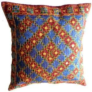 Embroidered Mirror Decorative Throw Pillow Cover   1