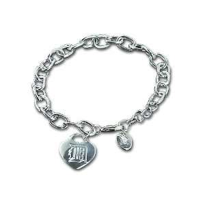 Detroit Tiger Heart Tag Bracelet