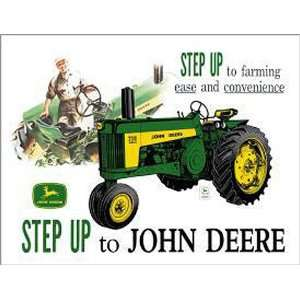 John Deere Step Up Farming Tractors Retro Vintage Tin Sign