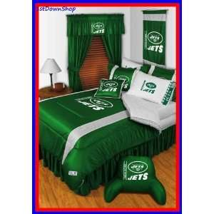New York Jets 4Pc SL Twin Comforter/Sheets Bed Set Sports