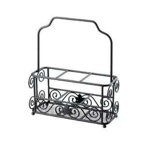 Utensil and plate caddy on popscreen - Wrought iron flatware ...
