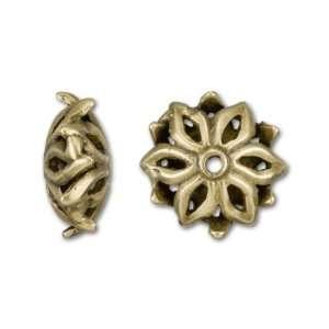 Anique Brass Plaed Brass Sar Flower Bead Ars, Crafs
