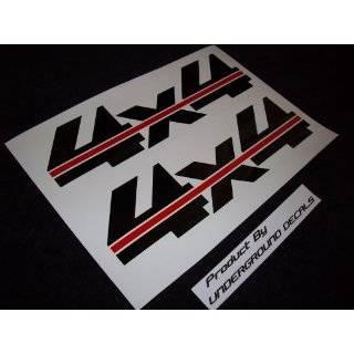 4X4 Fender Vinyl Decals Tailgate Stickers Chevy Ford METALLIC SILVER