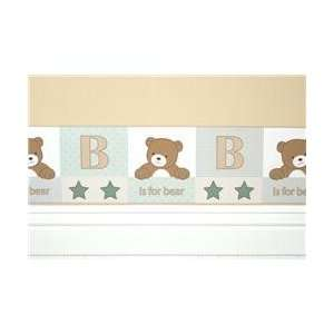 B is for Bear Sage   Wall border 10 Yards Baby