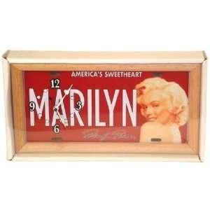 Marilyn Monroe Wall Clock w/Wood Trim