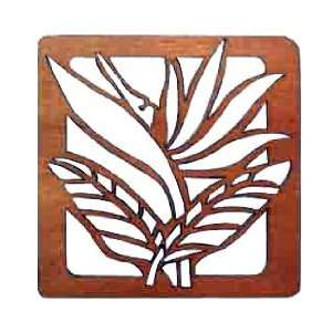 Hawaiian Bird of Paradise Laser Cut Wood Trivets  Kitchen