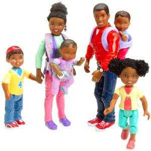 Mother, Father, Baby, Sister and Brother Loving Family Doll