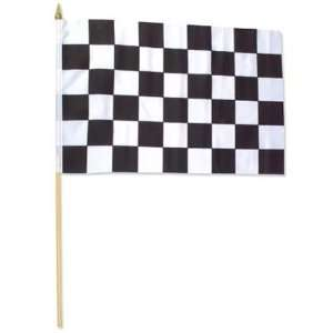 Race Flags Wooden Dowel Parade Checkered Flags : Toys & Games