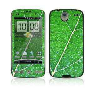 HTC Desire Decal Skin   Green Leaf Texture Everything