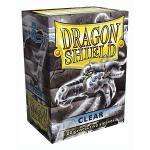 Dragon Shield Standard Deck Sleeves Clear 100 Count: Toys & Games