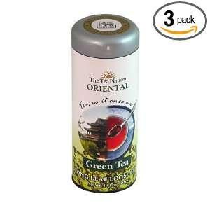 The Tea Nation Oriental Long Leaf Green Tea in Tall Tin   100g, 3.52