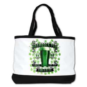 Shoulder Bag Purse (2 Sided) Black Shamrock Pub Luck of the Irish 1759