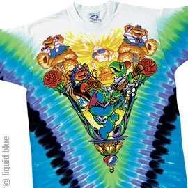 GRATEFUL DEAD T Shirt   Dead Sphinx (Tie Dye) Clothing