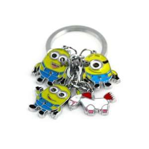 Despicable Me toys Keychain Set   Dave, Jorge, Stewart, Agnes the