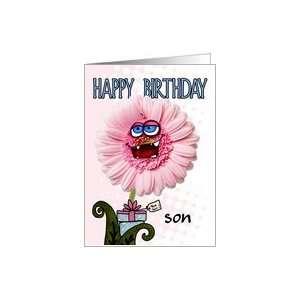 happy birthday flower   son Card: Toys & Games