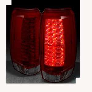 Chevy Avalanche 2007 2008 2009 2010 2011 2012 LED Tail Lights   Red