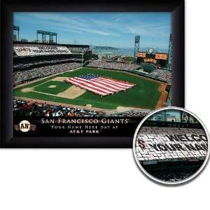 San Francisco Giants Personalized Stadium Print  Sports
