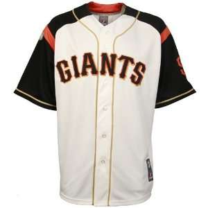 Majestic San Francisco Giants White Stance Baseball Jersey