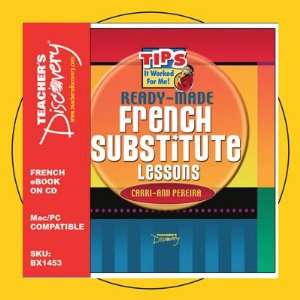 Ready Made French Substitute Lessons Book on CD Teachers