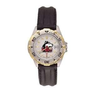 Northern Illinois Huskies All Star Ladies Black Leather Strap Watch
