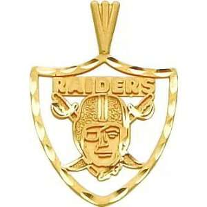 14K Gold NFL Oakland Raiders Logo Charm: Jewelry
