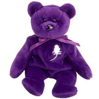 the Purple Teddy Bear (Princess Diana)   MWMT Ty Beanie Babies