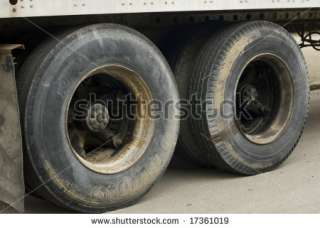 Large Black Semi Truck Tires Stock Photo 17361019 : Shutterstock