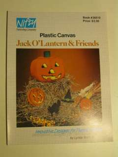 Jack Olantern Friends Halloween Plastic Canvas Pattern
