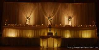 164ft Bolt Sheer Voile for Draping Wedding Backdrop, Party Drape Decor