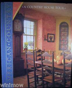 Country House Tour American Country Time Life Book Vtg