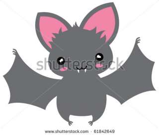 Small Kawaii Flying Cartoon Bat. Stock Vector 61842649 : Shutterstock