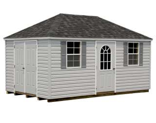 Vinyl Siding Hip Roof Style Sheds  GazeboCreations